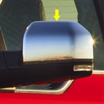 Ford F150 Chrome Top Half Mirror Covers, 2015, 2016, 2017