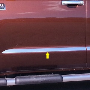 Toyota Tundra Chrome Door Molding Insert Trim, 2014, 2015, 2016, 2017