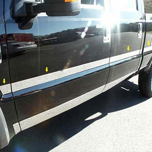 Ford Super Duty Chrome Middle Door Molding Trim, 2008, 2009, 2010