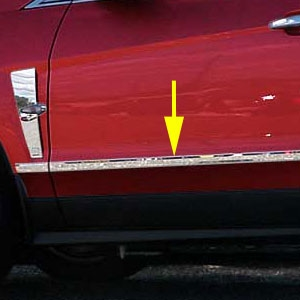 Cadillac SRX Chrome Door Molding Insert Trim, 2010, 2011, 2012, 2013, 2014, 2015, 2016