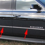 Chevrolet Suburban Chrome Door Accent Trim, 2015, 2016, 2017, 2018