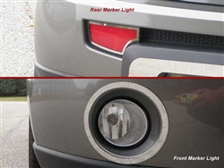 Kia Soul Chrome Fog and Marker Light Trim Set, 4pc  2010 - 2011