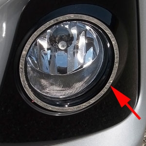 Toyota Corolla Chrome Fog Light Trims, 2014, 2015, 2016
