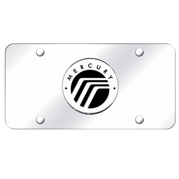 Mercury Chrome License Plate with Logo