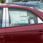 Kia Forte Chrome Pillar Post Trim, 2010, 2011, 2012, 2013