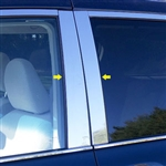 Toyota Sienna Chrome Pillar Post Trim, 2011, 2012, 2013, 2014, 2015