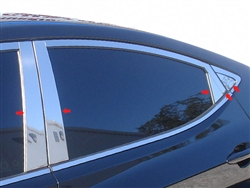 Hyundai Elantra Chrome Pillar Post Trim, 10pc. Set, 2011, 2012, 2013, 2014, 2015, 2016