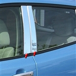 Nissan Leaf Chrome Pillar Post Trim, 2011, 2012, 2013, 2014, 2015, 2016, 2017