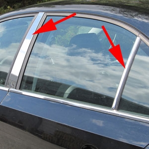 Volkswagen Jetta Chrome Pillar Post Trim, 2011, 2012, 2013, 2014, 2015