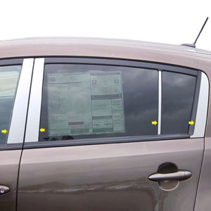 Kia Sportage Chrome Pillar Post Trim 4pc, 2011, 2012, 2013, 2014, 2015, 2016