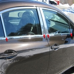 Honda Civic Sedan Chrome Pillar Post Trim, 2012, 2013, 2014, 2015