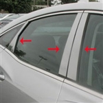 Hyundai Azera Chrome Pillar Post Trim, 2012, 2013, 2014, 2015, 2016, 2017