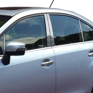 Subaru Impreza Chrome Pillar Post Trim, 2012, 2013, 2014, 2015, 2016, 2017