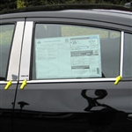 Nissan Versa Sedan Chrome Pillar Post Trim, 2012, 2013, 2014, 2015, 2016