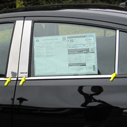 Nissan Versa Sedan Chrome Pillar Post Trim, 2012, 2013, 2014, 2015, 2016, 2017