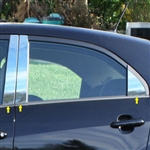 Kia Rio Chrome Pillar Post Trim, 2012, 2013, 2014, 2015, 2016, 2017