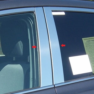 Toyota Rav4 Chrome Pillar Post Trim, 2013, 2014, 2015, 2016