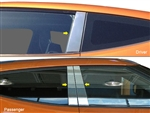 Hyundai Veloster Chrome Pillar Post Trim, 2012, 2013, 2014, 2015, 2016, 2017