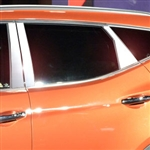Hyundai Santa Fe Chrome Pillar Post Trim, 2013, 2014, 2015, 2016, 2017, 2018