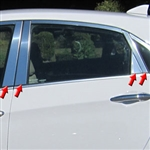 Hyundai Elantra GT Chrome Pillar Post Trim, 2013, 2014, 2015, 2016, 2017