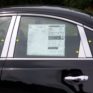Nissan Altima Sedan Chrome Pillar Post Trim, 8pc., 2013, 2014, 2015