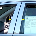 Nissan Sentra Chrome Pillar Post Trim, 2013, 2014, 2015