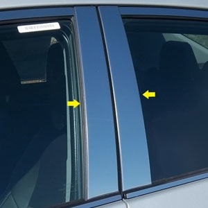 Toyota Corolla Chrome Pillar Post Trim, 2014, 2015, 2016, 2017