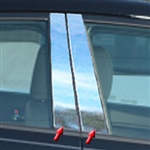 Kia Forte Chrome Pillar Post Trim, 2014, 2015, 2016, 2017