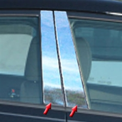 Kia Forte Chrome Pillar Post Trim, 2014, 2015, 2016
