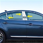 Kia Cadenza Chrome Pillar Post Trim, 2014, 2015, 2016