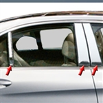 Mercedes C-Class Sedan Chrome Pillar Post Trim, 2015, 2016, 2017