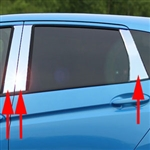 Honda Fit Chrome Pillar Post Trim, 2015, 2016