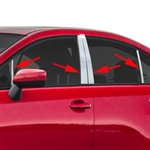 Subaru WRX Chrome Pillar Post Trim, 2015, 2016, 2017, 2018