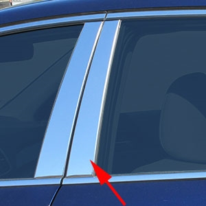 Honda Accord Sedan Chrome Pillar Post Trim, 2016, 2017