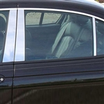 Jaguar X-Type Chrome Pillar Post Trim, 6pc  2002 - 2008