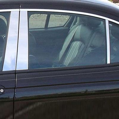 Jaguar X Type Chrome Pillar Post Trim 6pc 2002 2003