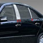 Mercedes E-Class 4dr. Chrome Pillar Post Trim, 6pc  2003-2009