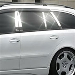Mercedes E Class Wagon Chrome Pillar Post Trim, 2004, 2005, 2006, 2007, 2008, 2009