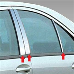 Mercedes C-Class Sedan Chrome Pillar Post Trim, 2001, 2002, 2003, 2004, 2005, 2006, 2007