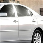 Lexus ES300 Chrome Pillar Post Trim, 2002, 2003, 2004, 2005, 2006