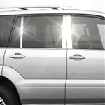 Lexus GX 470 Chrome Pillar Post Trim, 2003, 2004, 2005, 2006, 2007, 2008, 2009