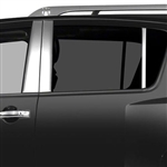 Nissan Armada Chrome Pillar Post Trim, 6pc. Set, 2004, 2005, 2006, 2007, 2008, 2009, 2010, 2011, 2012, 2013, 2014, 2015