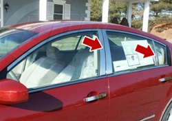 Nissan Maxima Chrome Pillar Post Trim, 6pc. Set, 2004, 2005, 2006, 2007, 2008