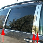 Honda Odyssey Chrome Pillar Post Trim, 2005, 2006, 2007, 2008, 2009, 2010