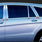 Mercedes R Class Chrome Pillar Post Trim, 10pc. Set, 2006, 2007, 2008, 2009, 2010, 2011, 2012, 2013