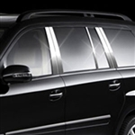 Mercedes GL Chrome Pillar Post Trim, 10pc  2007 - 2011