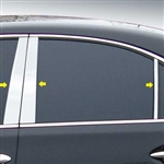 Lexus LS Chrome Pillar Post Trim, 2007, 2008, 2009, 2010, 2011, 2012
