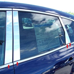 Mazda CX-9 Chrome Pillar Post Trim, 2007, 2008, 2009, 2010, 2011, 2012, 2013, 2014, 2015