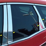 Mazda CX-7 Chrome Pillar Post Trim, 2007, 2008, 2009, 2010, 2011, 2012