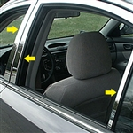 Kia Optima Chrome Pillar Post Trim, 6pc  2006.5 - 2010